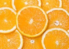 Segments oranges de plan rapproché comme milieux Photo libre de droits