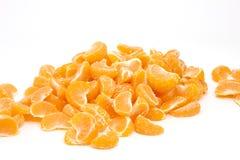Segments of the tangerine aheap Stock Image
