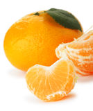 Segments and the whole tangerine Royalty Free Stock Photography
