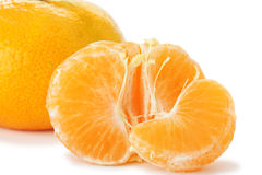 Segments and the whole tangerine Royalty Free Stock Images