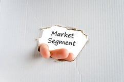 Segmentu rynku teksta pojęcie Obraz Stock