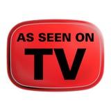 Según lo visto en icono de la TV Fotos de archivo libres de regalías