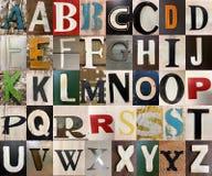 Segna gli alfabeti con lettere capitali Fotografia Stock Libera da Diritti