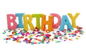 Segna il compleanno con lettere Immagini Stock