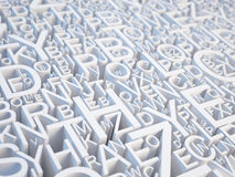 Segna il fondo con lettere illustrazione di stock