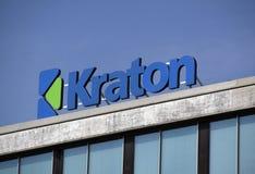 Segna il kraton con lettere su una costruzione Fotografia Stock Libera da Diritti