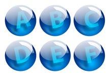 Segna le sfere con lettere illustrazione di stock