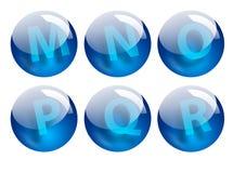 Segna le sfere con lettere Immagini Stock