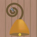Segnalatore acustico dell'anello sulla parete Fotografia Stock