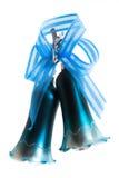 Segnalatore acustico dell'azzurro di natale Fotografia Stock