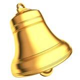 Segnalatore acustico dell'oro isolato su priorità bassa bianca Immagini Stock