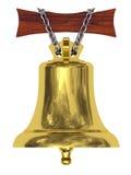 Segnalatore acustico della nave dorata Immagini Stock Libere da Diritti