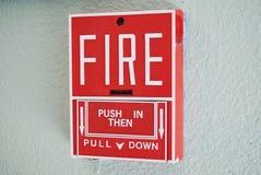 Segnalatore d'incendio di incendio Immagine Stock Libera da Diritti
