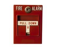 Segnalatore d'incendio di incendio isolato Immagini Stock Libere da Diritti
