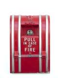 Segnalatore d'incendio di incendio isolato fotografie stock libere da diritti