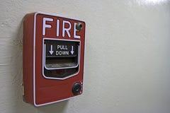 Segnalatore d'incendio di incendio sulla parete Fotografie Stock