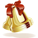 Segnalatori acustici dorati royalty illustrazione gratis