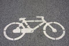 Segnalazione di simbolo della bicicletta Fotografie Stock