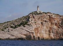 Segnale alla costa della Croazia Fotografia Stock