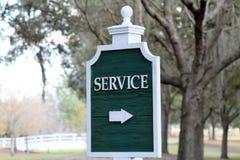 Segnale che indica area di servizio Immagine Stock