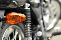 Segnale del fanale posteriore del motociclo Fotografie Stock