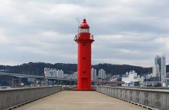 Segnale del mare con un genere su una città Fotografia Stock
