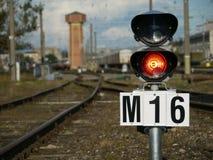 Segnale del treno Immagini Stock Libere da Diritti
