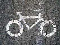 Segnale della bici Fotografie Stock