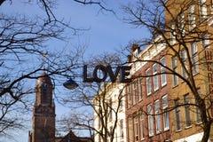 Segnale della città di amore Fotografie Stock