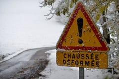 Segnale dentro l'inverno fotografia stock libera da diritti