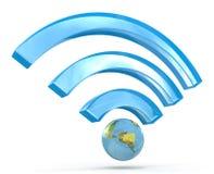 segnale di 3D Wi-Fi Fotografia Stock Libera da Diritti