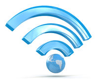 segnale di 3D Wi-Fi Immagine Stock Libera da Diritti