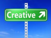 Segnale di direzione con le parole creative illustrazione di stock