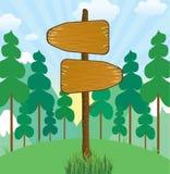 Segnale di direzione di legno Immagine Stock Libera da Diritti