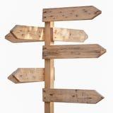 Segno di legno Immagine Stock