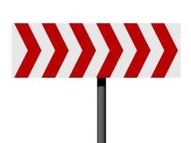 Segnale di direzione rosso e bianco Fotografie Stock Libere da Diritti