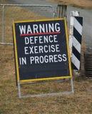 Segnale di pericolo Fotografie Stock Libere da Diritti