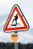 Segnale di pericolo 01 Fotografia Stock