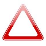 Segnale di pericolo in bianco Fotografie Stock Libere da Diritti