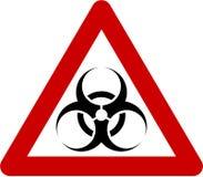 Segnale di pericolo con le sostanze di rischio biologico illustrazione di stock