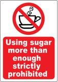 Segnale di pericolo del caffè divertente illustrazione di stock