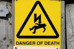 Segnale di pericolo del pericolo Fotografia Stock