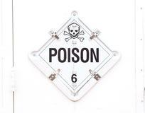 Segnale di pericolo del veleno Immagini Stock Libere da Diritti