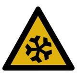 Segnale di pericolo della neve Fotografia Stock Libera da Diritti