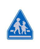 Segnale di pericolo della scuola Fotografia Stock Libera da Diritti