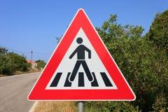 Segnale di pericolo della via Fotografia Stock