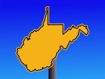 Segnale di pericolo della Virginia dell'Ovest Fotografia Stock Libera da Diritti
