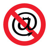 Segnale di pericolo dello Spam Fotografia Stock Libera da Diritti