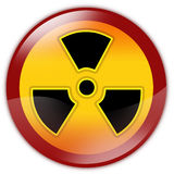 Segnale di pericolo di radiazione Fotografie Stock Libere da Diritti