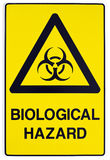 Segnale di pericolo di rischio biologico Fotografia Stock